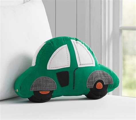 Car Shaped Pillow logan car shaped decorative pillow pottery barn