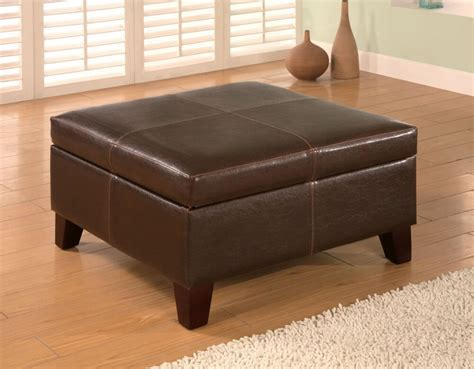 36 Top Brown Leather Ottoman Coffee Tables Leather Ottoman