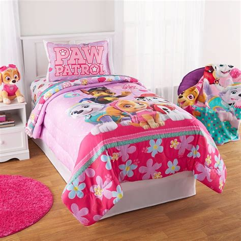 girls bedding twin paw patrol puppy girls nick jr twin comforter sheets 4