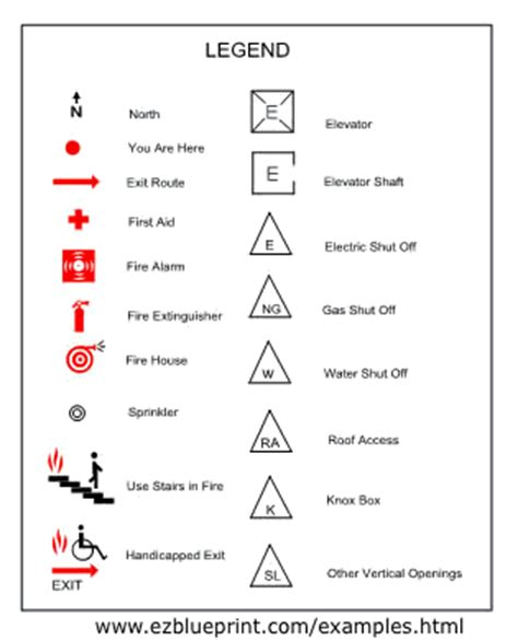 fire extinguisher symbol on floor plan evacuation plan template out of darkness