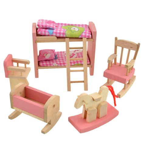 Aliexpress Com Buy Wooden Doll Bunk Bed Set Furniture Miniature Bunk Beds