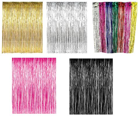 metallic foil curtains party supply metallic foil fringe curtain decorations