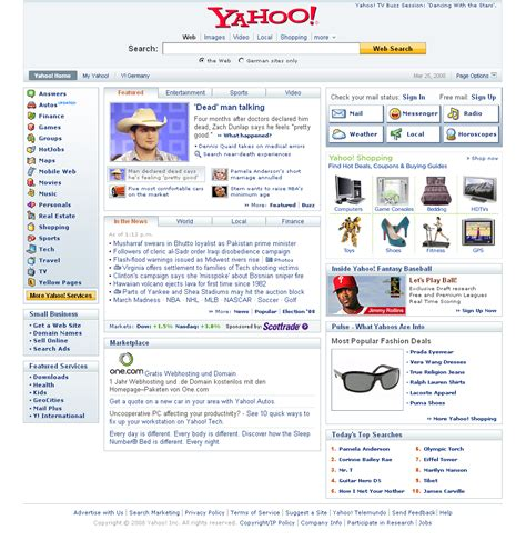 Thanks Yahoo by Yahoo Redesign With Centered Logo