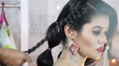 indian hairstyles in youtube best indian traditional hairstyle tutorial by bollywood