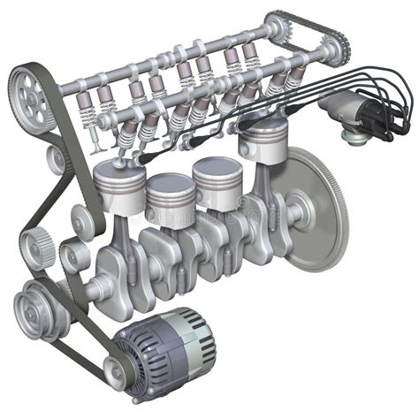 petrol engine interior stock illustration illustration