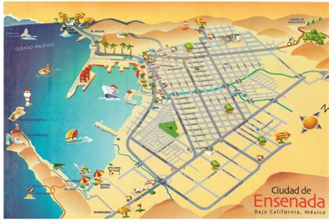 tourist map of mexico map of ensenada city area map of mexico regional