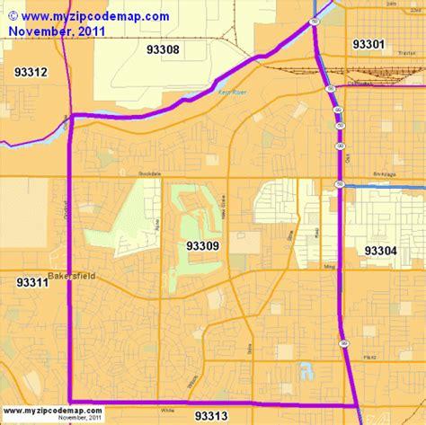 zip code map bakersfield ca zip code map of 93309 demographic profile residential