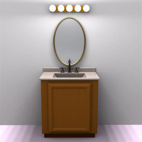 Bathroom Vanity Mirror With Lights Simple 30 Inch Bathroom Vanity Light Fixture Globes Wall Mounted Above Oval Framed Mirror On