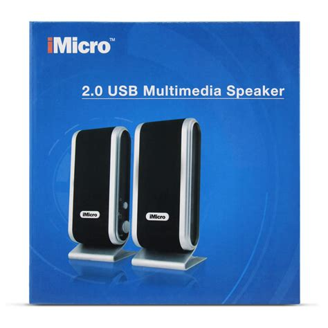Speaker Multimedia Usb D 015 imicro sp imd168b imicro 2 0 channel usb2 0 multimedia speaker system black