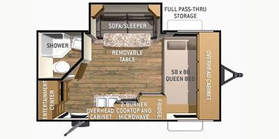 shadow cruiser floor plans 2015 cruiser rv shadow cruiser series m 185 fbs specs and
