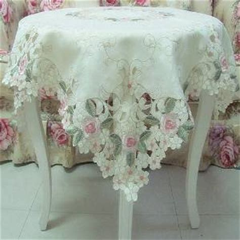 Pink Blossom Refrigerator Cover Single Shabby Vintage Flower popular embroidered tablecloth overlays buy cheap