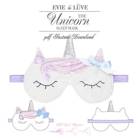 unicorn mask pattern digital unicorn sleep mask sewing pattern pdf sewing