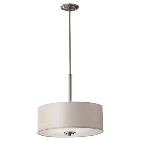 3 Light Pendant Fixture Feiss 3 Light Brushed Nickel Uplight Pendant F2771 3bs The Home Depot