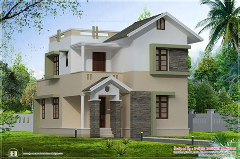 1400 Square Feet Small Villa Elevation Kerala Home Design And Floor Plans