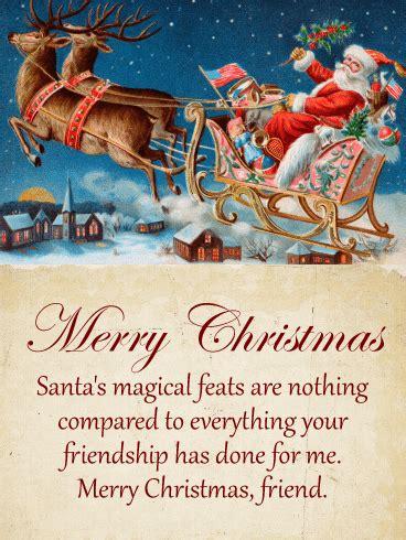 thinking   warms  heart merry christmas card birthday greeting cards  davia
