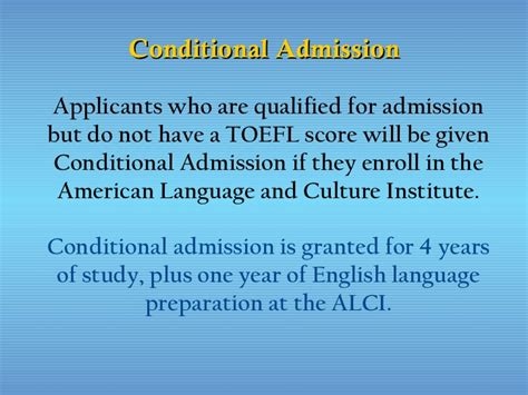 Mba Conditional Admission California by American Language And Culture Institute California State
