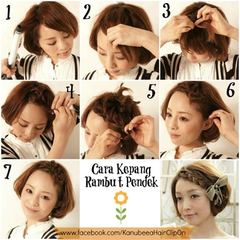 tutorial hiasan rambut pendek pin by li mun on beauty pinterest