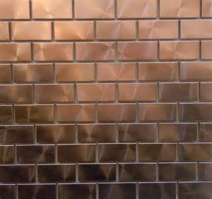 copper tiles for kitchen backsplash modern twist with 1 quot x 2 quot copper tiles can you say bar