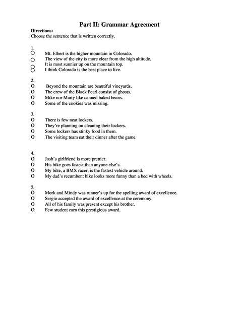speech pattern quiz sentence patterns multiple choice quiz writing alive web