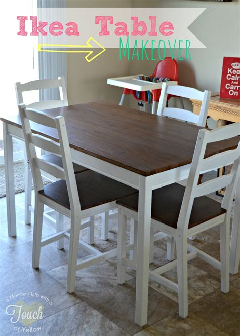 ikea kitchen tables a s with a touch of yellow ikea kitchen table makeover tutorial