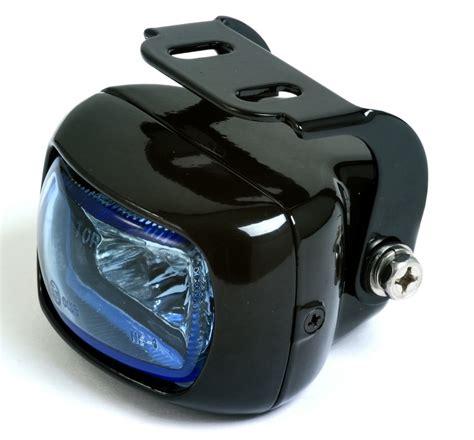 Motorrad Zusatz Scheinwerfer by Nebelscheinwerfer Schwarzes Gehaeuse Glas Blau