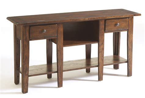 broyhill sofa table broyhill attic heirlooms rustic oak sofa table 3399 09