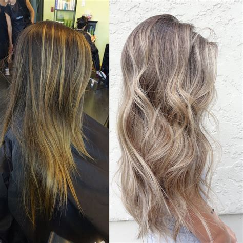 ash and beige blond highllights pictures ash beige blonde balayage hair pinteres