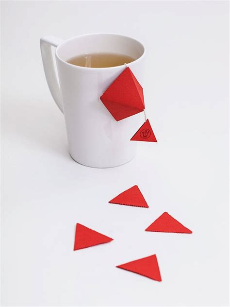 Origami Tea Bags - origami inspired teabag concept becomes a decorative