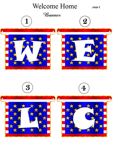 printable banner welcome 6 best images of welcome home banners printable free