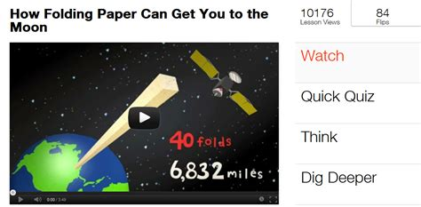 Folding Paper To The Moon - technology and the classroom
