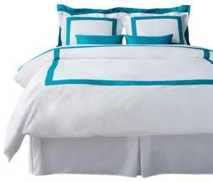 Turquoise Duvet Set Lacozi Turquoise White Duvet Cover Set Modern Bedding