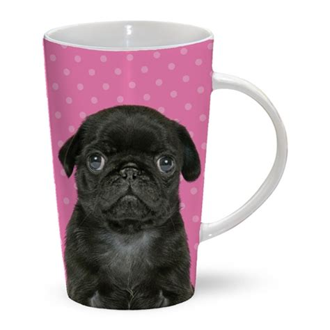 accessories for pugs black pug latte mug i pugs