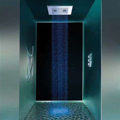 ducha shower led en colores showerhead with floodlights shower and thermostatic mixer