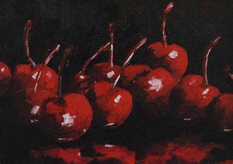cherries jubilee painting by christine hodecker george