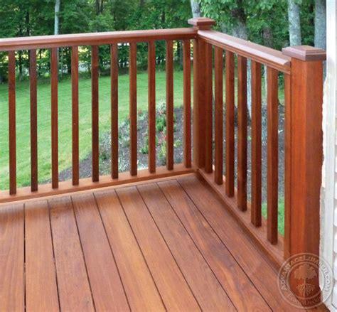 Deck Railing Balusters Ipe Decking Handrail Ipe Balusters