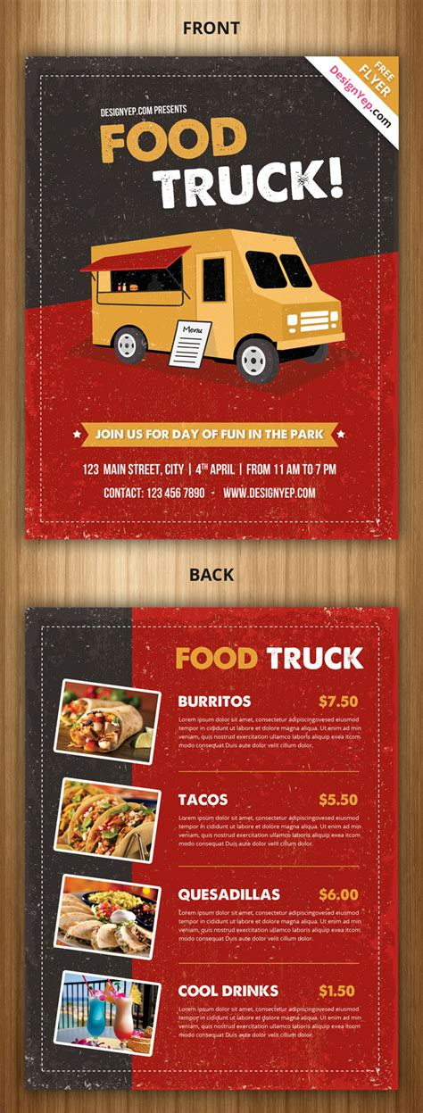 food truck menu template 21 free food menu templates for restaurants designyep