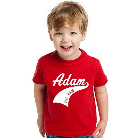 Child T Shirt child s personalised athletic sports t shirt by flaming
