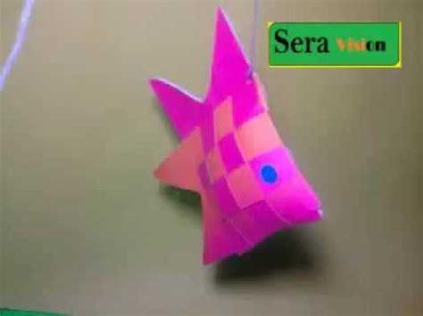 membuat tempat brosur dari karton hiasan gantung ikan dari kertas anyam youtube