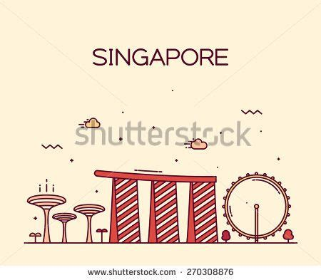 where to buy tattoo camo in singapore singapore city skyline detailed silhouette trendy vector