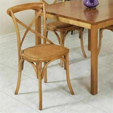 Birch Dining Chair Trent Home Tahiti Cross Back Birch Dining Chair In Light Brown 747612cy