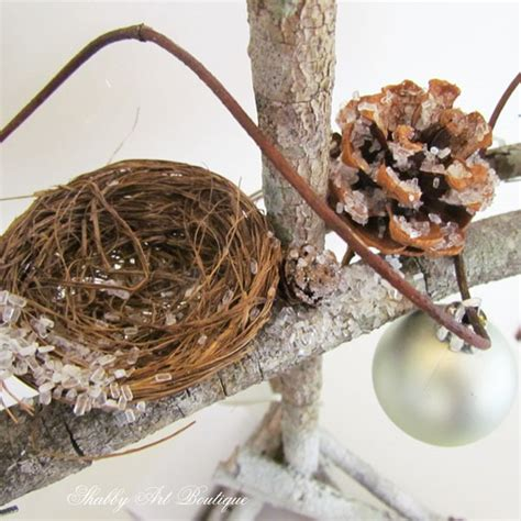 tutorial twig php how to make twig christmas trees shabby art boutique
