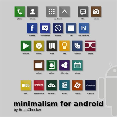 minimalism for android (icons) by BrainChecker on DeviantArt
