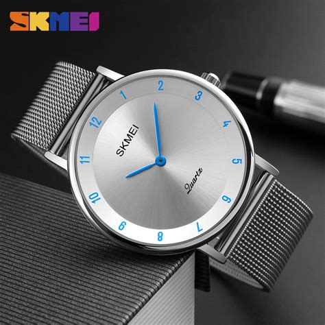Jam Tangan Stainless Steel Back skmei jam tangan analog pria stainless steel 1264