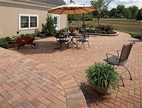 types of pavers for patio ep henry pavers in brick rosetta 90 176 herringbone pattern patios