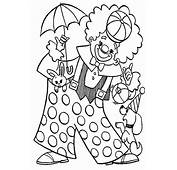 Clown Playing With Animal Circus Coloring Page  Color Luna