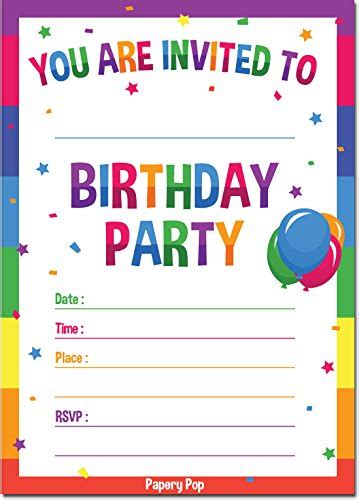 printable birthday invitations for 7 year old boy buy invitations cards party supplies online toys