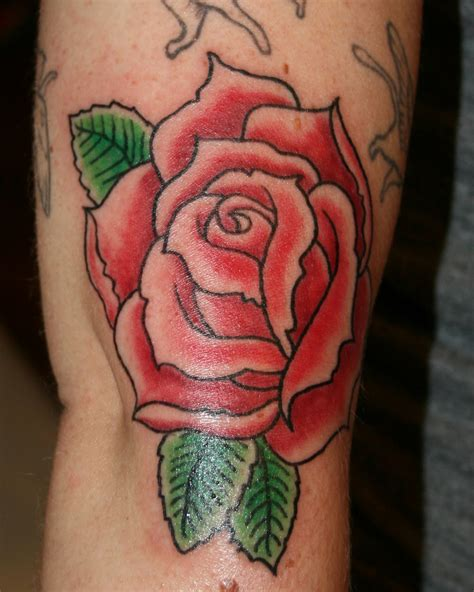green rose tattoos leaf tattoos and designs page 33