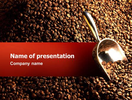 Scattering Of Coffee Powerpoint Template Backgrounds 02392 Poweredtemplate Com Coffee Powerpoint Template