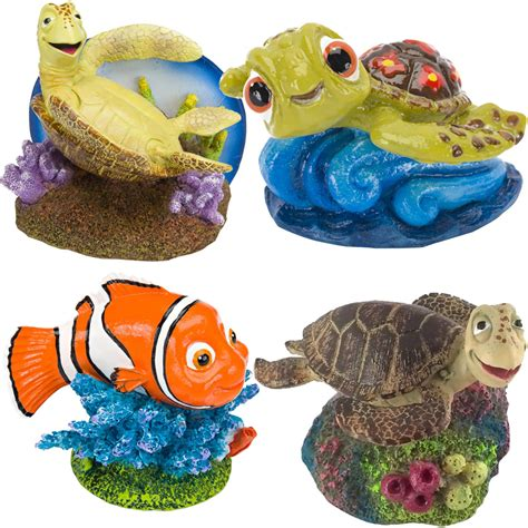 Disney Aquarium Decorations by Nemo Turtles Aquarium Ornament Set Healthypets