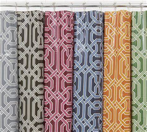 gingham shower curtain pottery barn pottery barn kids shower curtains curtains blinds